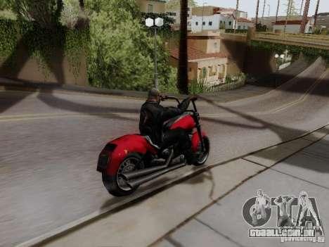 Vice City Freeway para GTA San Andreas traseira esquerda vista