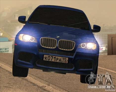 BMW X6 M E71 para GTA San Andreas vista interior