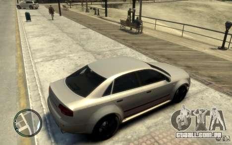 Audi RS4 para GTA 4 vista direita