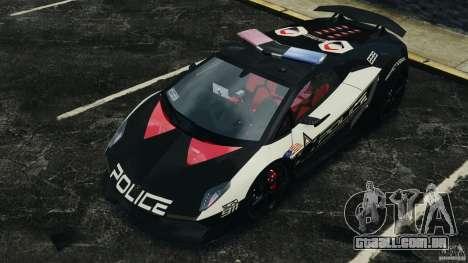Lamborghini Sesto Elemento 2011 Police v1.0 ELS para GTA 4 rodas