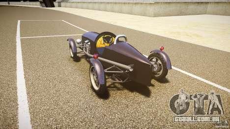 Vintage race car para GTA 4 traseira esquerda vista