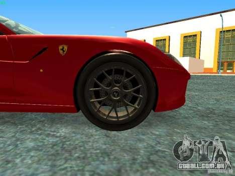 Ferrari 599 GTB para GTA San Andreas vista direita