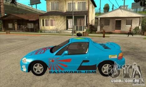 Honda CRX - DelSol para GTA San Andreas esquerda vista