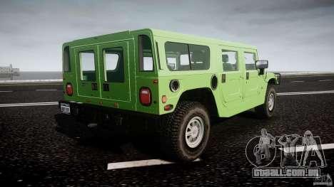 Hummer H1 para GTA 4 vista inferior