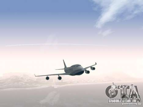 Boeing 747-400 China Airlines para GTA San Andreas vista superior