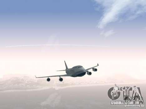 Boeing 747-400 China Airlines para GTA San Andreas vista superior