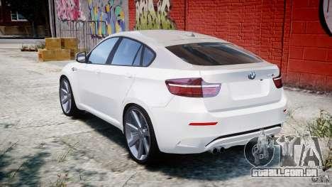 BMW X6M v1.0 para GTA 4 traseira esquerda vista
