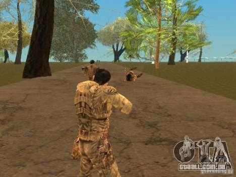 Degtyarev de Stalker para GTA San Andreas sexta tela