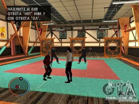 Pele de Bruce Lee para GTA San Andreas por diante tela