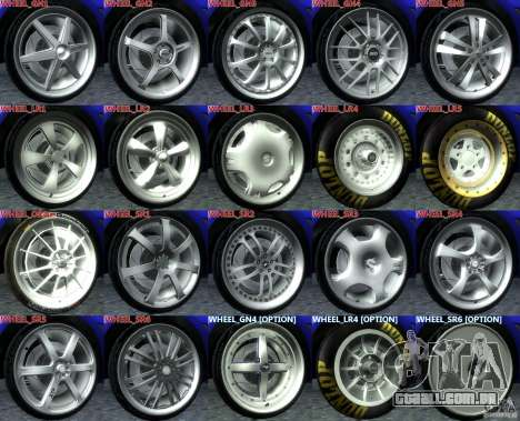 Wheels Pack NFSPS II para GTA San Andreas