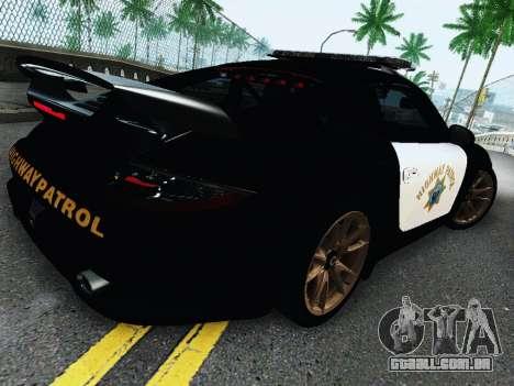 Porsche 911 GT2 RS (997) Police para GTA San Andreas vista traseira