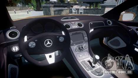 Mercedes-Benz SL65 AMG Black Series para GTA 4 vista de volta