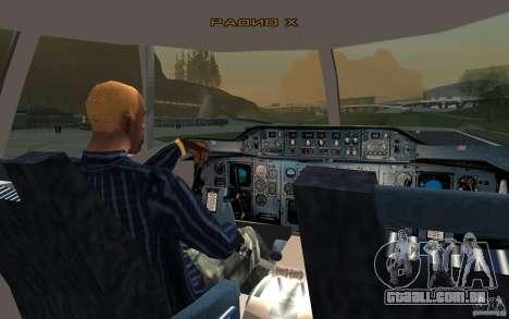 Airbus A310 S7 Airlines para GTA San Andreas vista direita