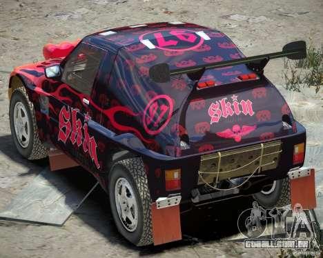 Mitsubishi Pajero Proto Dakar EK86 vinil 4 para GTA 4 vista direita