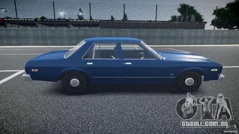 Dodge Aspen v1.1 1979 para GTA 4 vista interior
