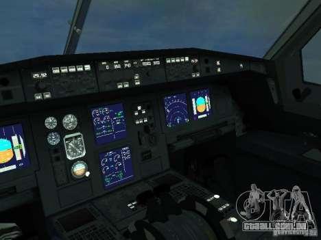 O Airbus A330-300 Aeroflot para GTA San Andreas vista interior