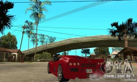 SSC Ultimate Aero Stock version para GTA San Andreas traseira esquerda vista