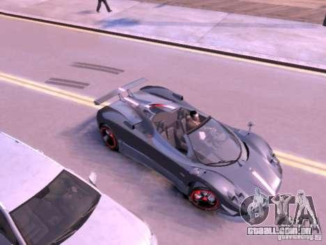 Pagani Zonda Cinque Roadster v 2.0 para GTA 4 traseira esquerda vista