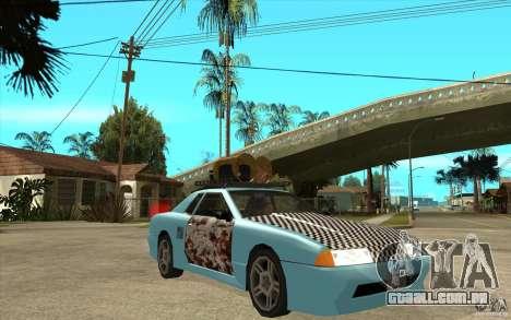 Elegy Rost Style para GTA San Andreas vista traseira