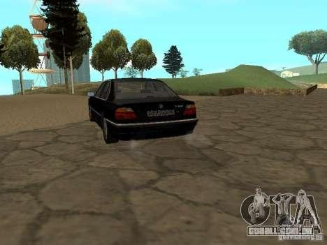 BMW 740I E38 (RUS) para GTA San Andreas traseira esquerda vista