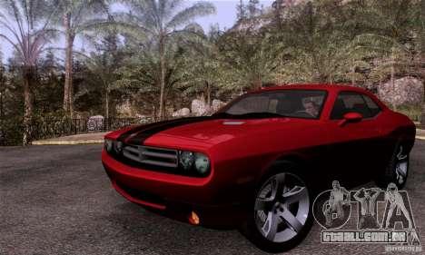 Dodge Challenger SRT8 para GTA San Andreas vista traseira