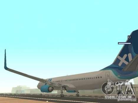 XL Airways 737-800 para GTA San Andreas traseira esquerda vista