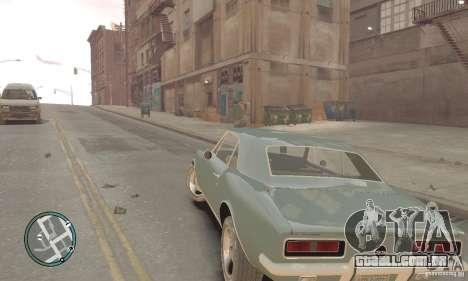 Chevrolet Camaro SS 1969 para GTA 4 traseira esquerda vista