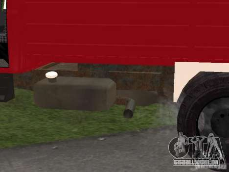 GAZ 3309 fogo para vista lateral GTA San Andreas