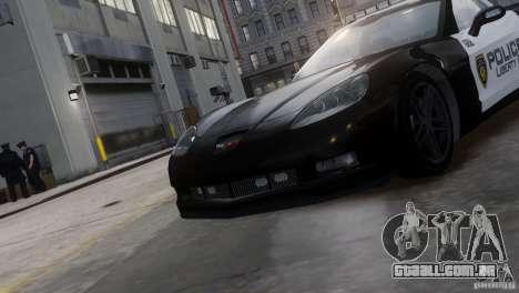 Chevrolet Corvette LCPD Pursuit Unit para GTA 4 vista direita