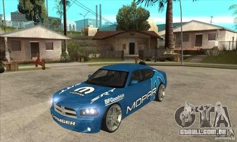 Dodge Charger R/T 2006 para GTA San Andreas vista interior