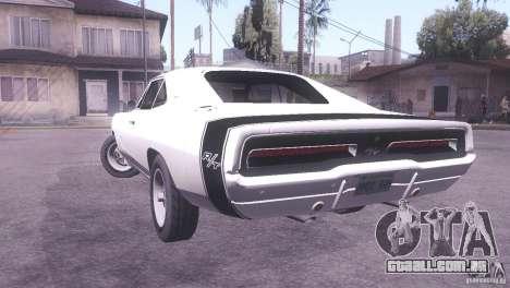 Dodge Charger R/T para GTA San Andreas esquerda vista