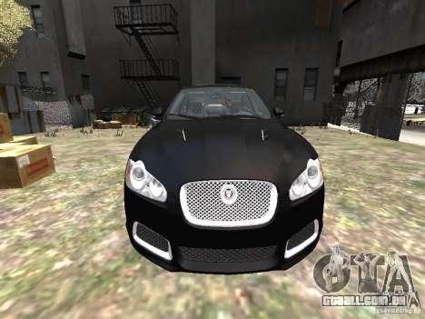 Jaguar XFR para GTA 4 vista superior