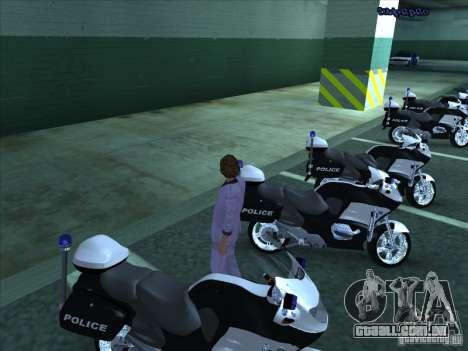 CopBike para GTA San Andreas traseira esquerda vista