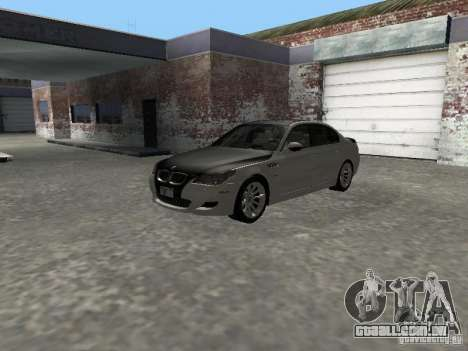 BMW M5 E60 2009 v2 para GTA San Andreas vista interior