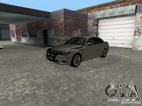BMW M5 E60 2009 v2 para GTA San Andreas vista interior