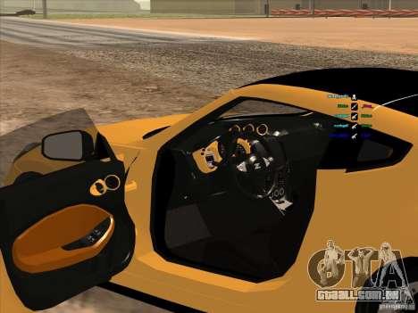 Nissan 370Z para GTA San Andreas vista direita