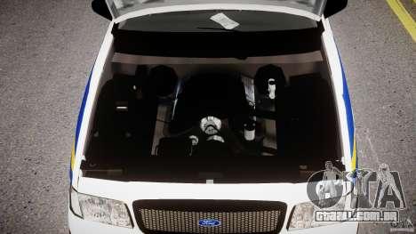 Ford Crown Victoria Croatian Police Unit para GTA 4 vista interior