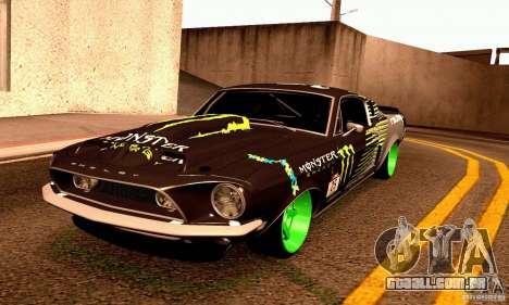 Shelby GT500 Monster Drift para vista lateral GTA San Andreas