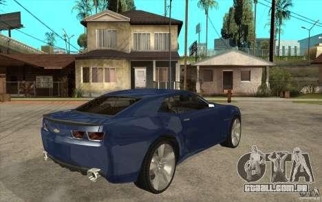 Chevrolet Camaro Concept Tunable para GTA San Andreas vista direita