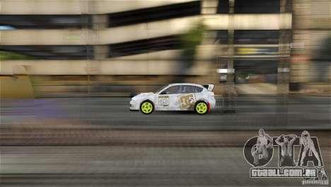 Subaru Impreza WRX STI Rallycross DC Gold Vinyl para GTA 4 traseira esquerda vista