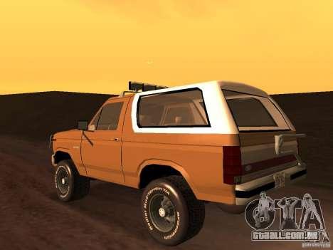 Ford Bronco 1985 para GTA San Andreas esquerda vista
