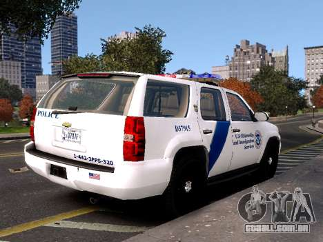 Chevrolet Tahoe Homeland Security para GTA 4 esquerda vista