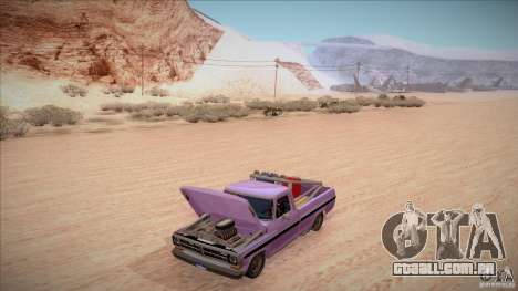 Ford F100 XLT Custom 1971 para GTA San Andreas interior