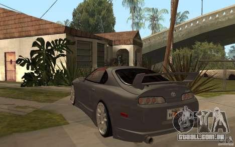 Toyota Supra Rz The Bloody Pearl 1998 para GTA San Andreas traseira esquerda vista