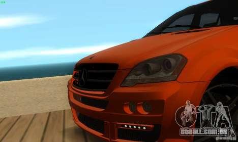 Mercedes-Benz ML63 AMG Brabus para GTA San Andreas vista superior