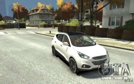 Hyundai IX35 2010 Beta para GTA 4 vista de volta