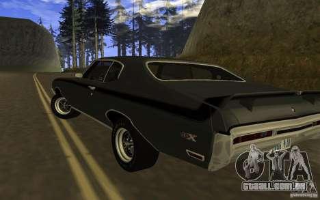 Buick GSX 1970 para GTA San Andreas esquerda vista