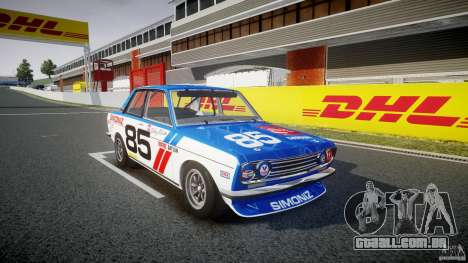 Datsun Bluebird 510 1971 BRE para GTA 4 vista direita