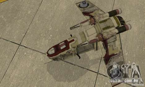 República Gunship de Star Wars para GTA San Andreas vista direita