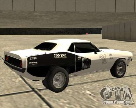 Plymouth Hemi Cuda Rogue para GTA San Andreas esquerda vista